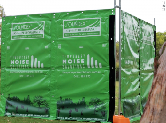 Perths leading acoustic barrier provider - Temporary Noise Solutions